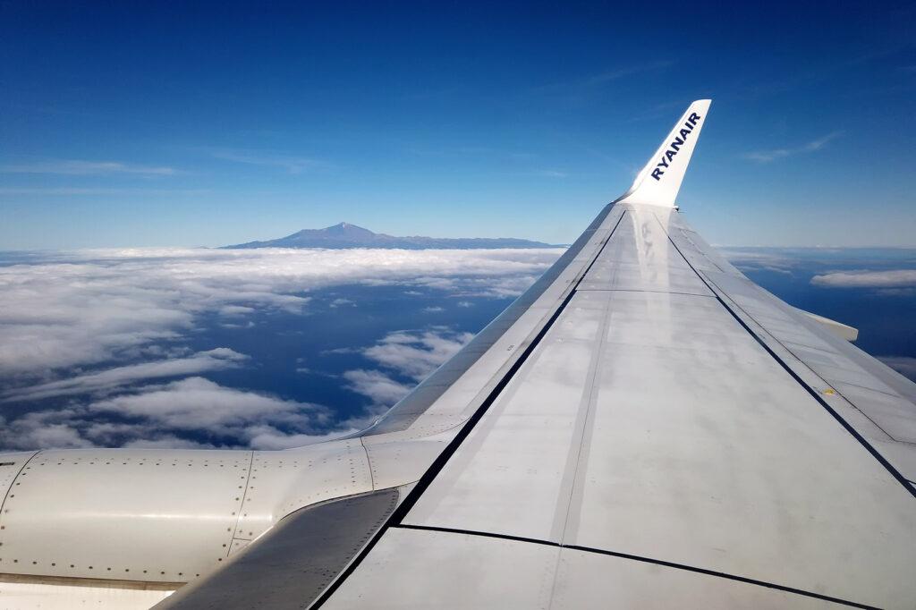 Ryanair Flug nach Teneriffa mit Teide