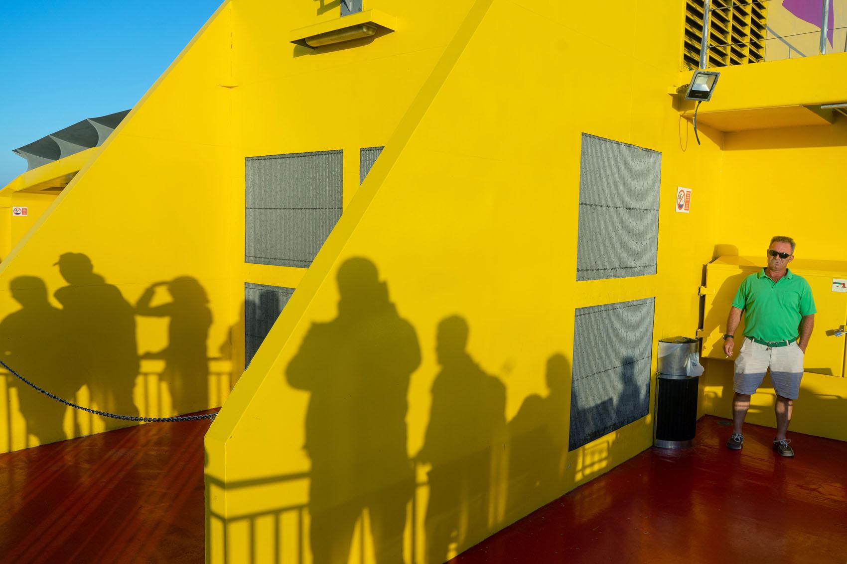 Gelbe Fähre von La Gomera nach Teneriffa