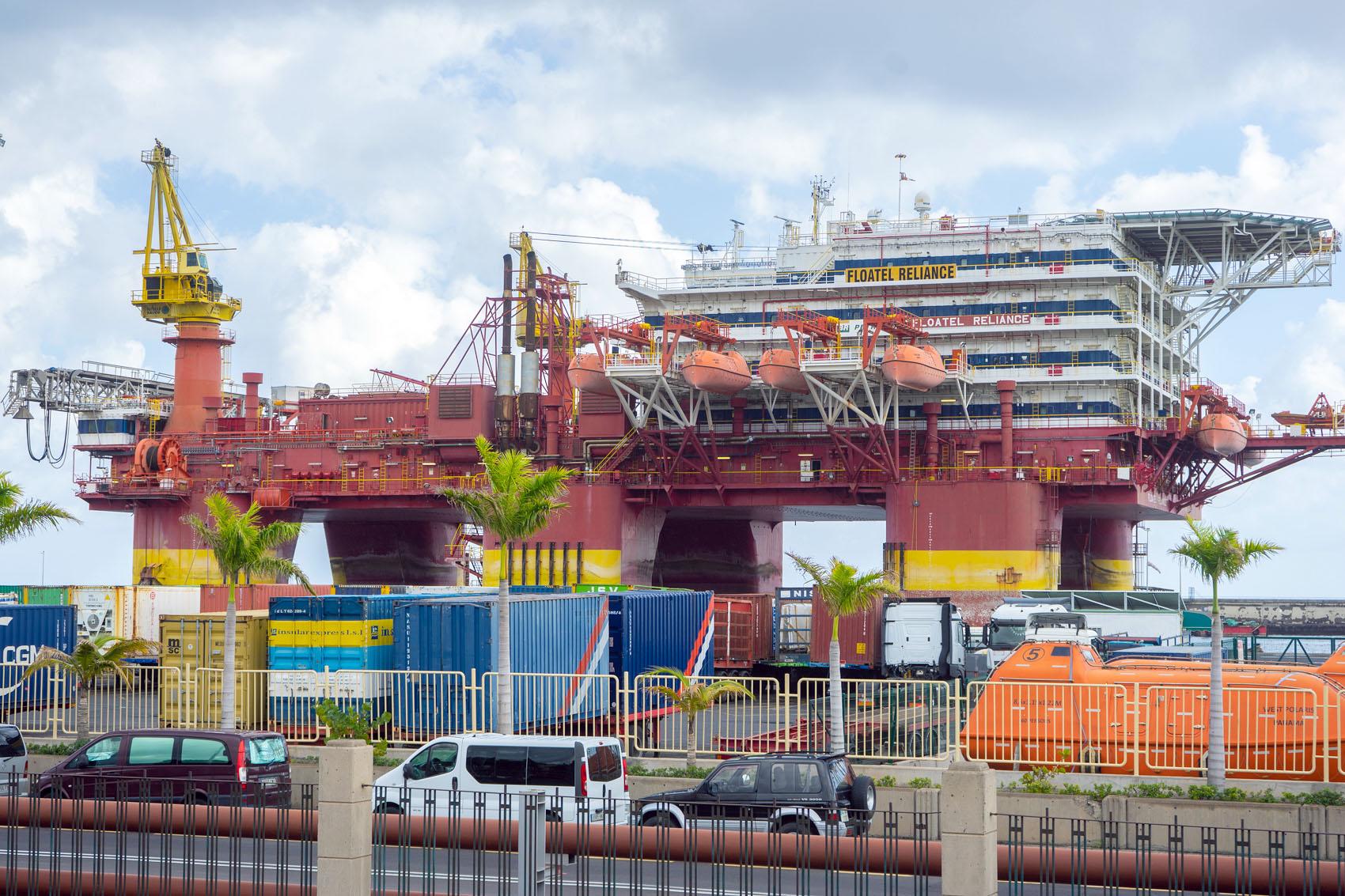 Der Hafen von Santa Cruz Teneriffa