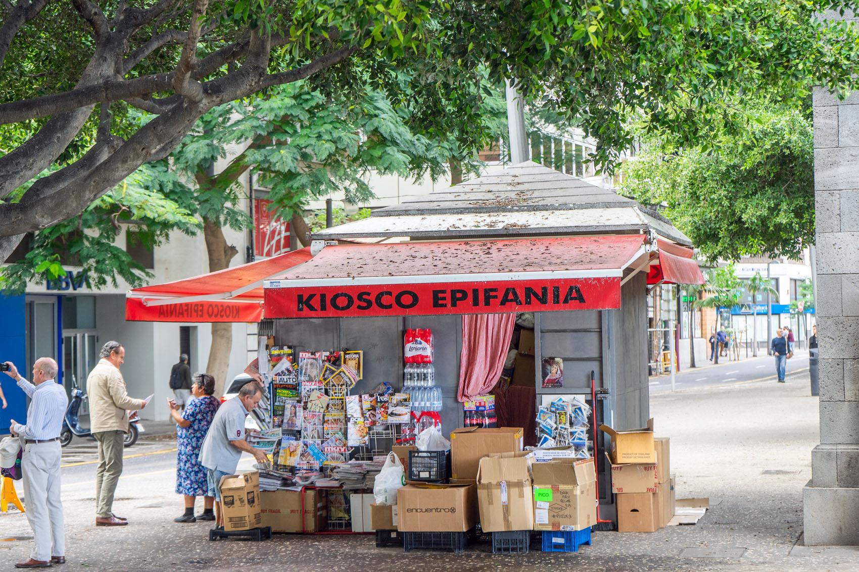 Kiosk Santa Cruz Teneriffa